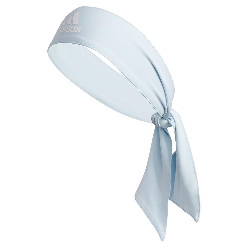 Alphaskin Tie Tennis Headband Sky Tint Blue And White