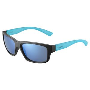 Holman Floatable Sunglasses Matte Black Crystal and HD Polarized Offshore Blue
