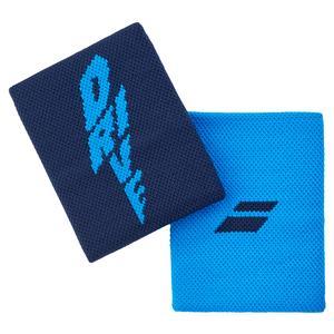 Logo Jumbo Tennis Wristband Drive Blue