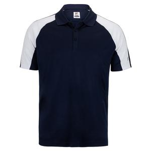 Men`s Pickleball Polo Navy and White