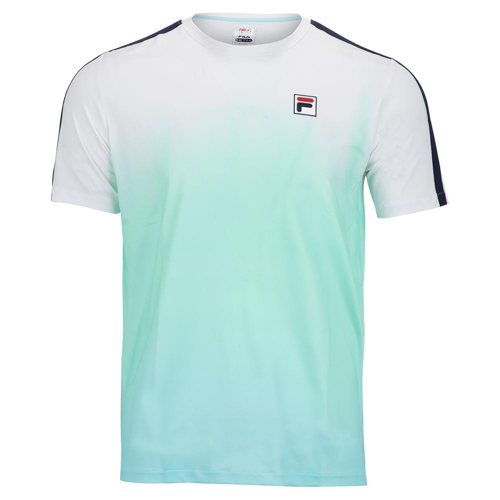 Men's Legends Ombre Tennis Crew White And Beach Glass