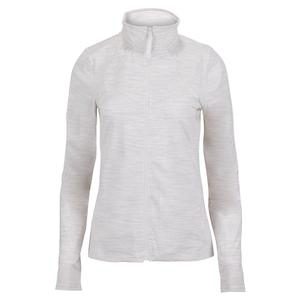 Women`s Back Court Tennis Jacket White Heather