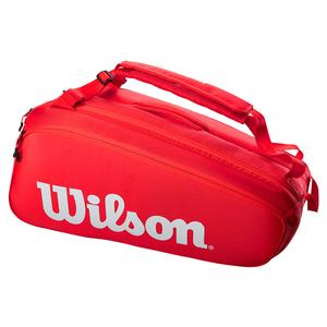 Super Tour 9 Pack Tennis Bag Red