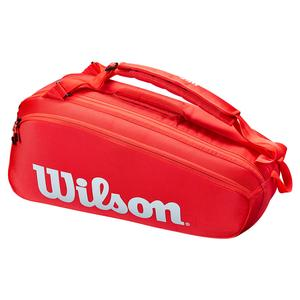Super Tour 6 Pack Tennis Bag Red