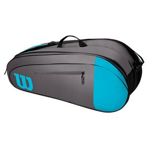 Team 6 Pack Tennis Bag Blue and Gray