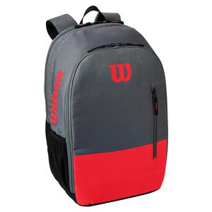 Team Tennis Backpack Red and Gray