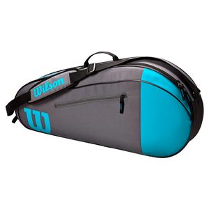 Team 3 Pack Tennis Bag Blue and Gray
