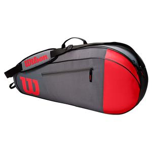 Team 3 Pack Tennis Bag Red and Gray