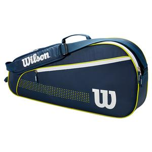Juniors` 3 Pack Tennis Bag Navy and White