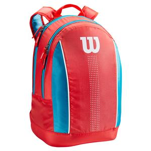 Juniors` Tennis Backpack Coral and Blue
