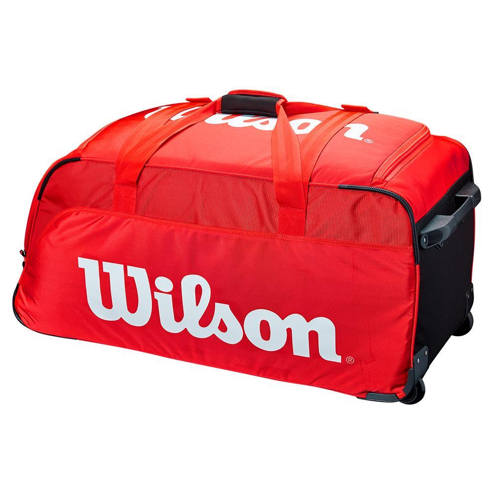 Super Tour Travel Tennis Bag Wheeled Red