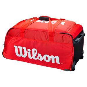Super Tour Travel Tennis Bag Wheeled Red