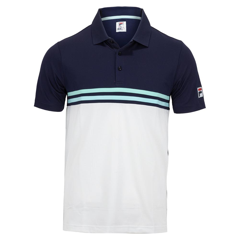 Men's Legends Rally Tennis Polo Navy And White