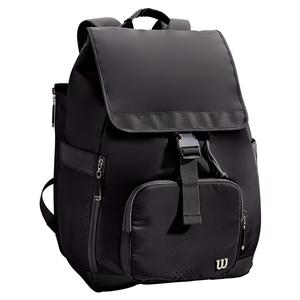 Women`s Fold Over Tennis Backpack Black