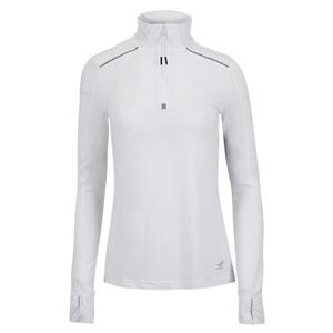 Women`s 1/4 Zip Long Sleeve Pickleball Top White