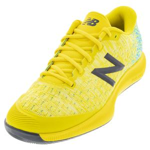 Men`s FuelCell 996v4 2E Width Tennis Shoes Citra Yellow and Virtual Sky