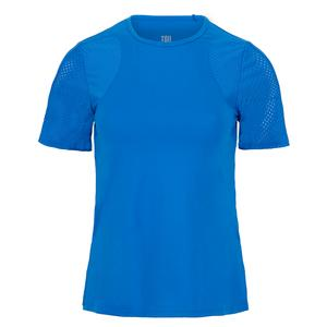 Women`s Katy Short Sleeve Tennis Top Pacific