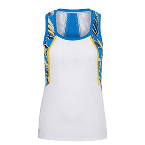 Women`s Avril Tennis Tank Chalk and Pacific Grove