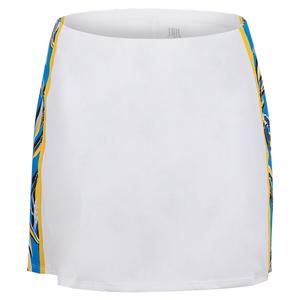 Women`s Hudson 13.5 Inch Tennis Skort Chalk and Pacific Grove