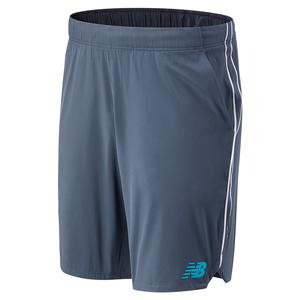 Men`s Rally 9 Inch Tennis Short Thunder