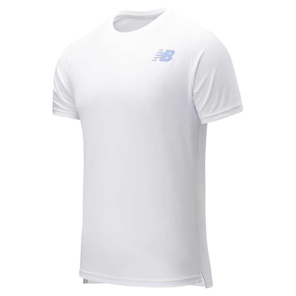 Men's Rally Solid Tennis Crew White