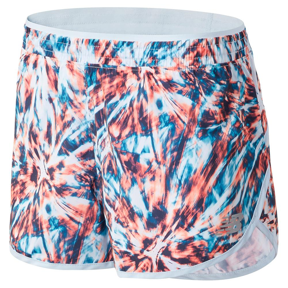 Women's Printed Accelerate 2.5 Inch Performance Short White Multi