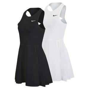 Women`s Court Dri-FIT Advantage Tennis Dress White and Black