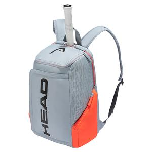 Rebel Tennis Backpack Grey and Orange