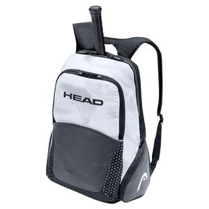 Djokovic Tennis Backpack White and Black