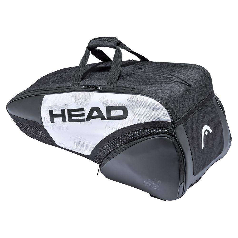 Djokovic 6r Combi Tennis Bag White And Black