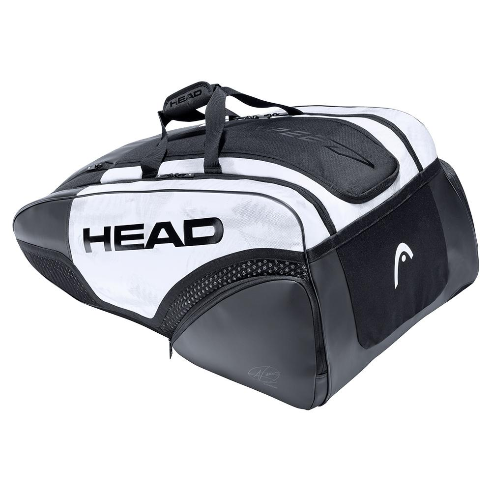 Djokovic 12r Monstercombi Tennis Bag White And Black