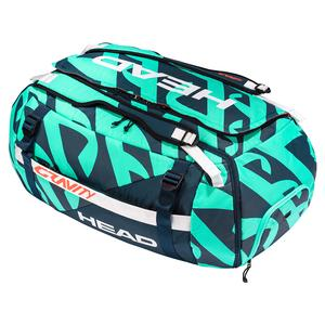 Gravity r-PET Tennis Duffle Bag Teal and Navy