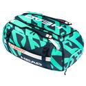 Gravity r-PET Tennis Duffle Bag Teal and Navy