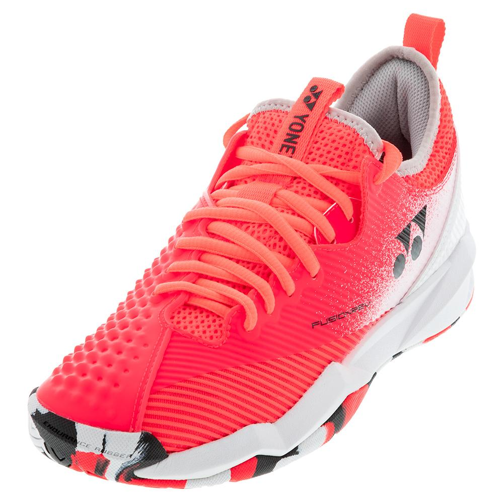 Men's Power Cushion Fusionrev 4 Tennis Shoes Red And White