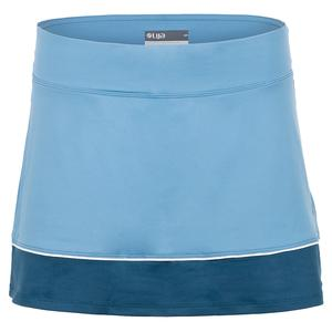 Women`s Borderline Tennis Skort Cameo Blue and Bluesteel