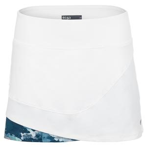 Women`s Power Tennis Skort White and Watermark