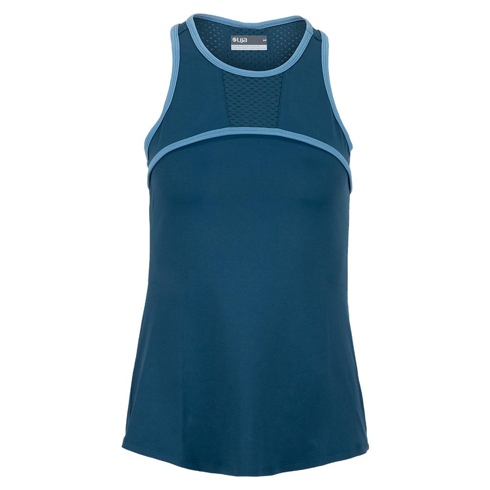 Women's Triumph Tennis Tank Bluesteel And Cameo Blue