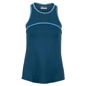 Women`s Triumph Tennis Tank Bluesteel and Cameo Blue