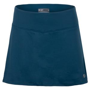Women`s Drill Tennis Skort Bluesteel