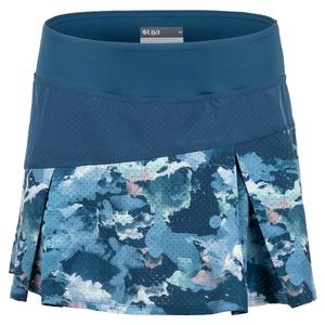 Women`s Strata Tennis Skort Bluesteel and Watermark