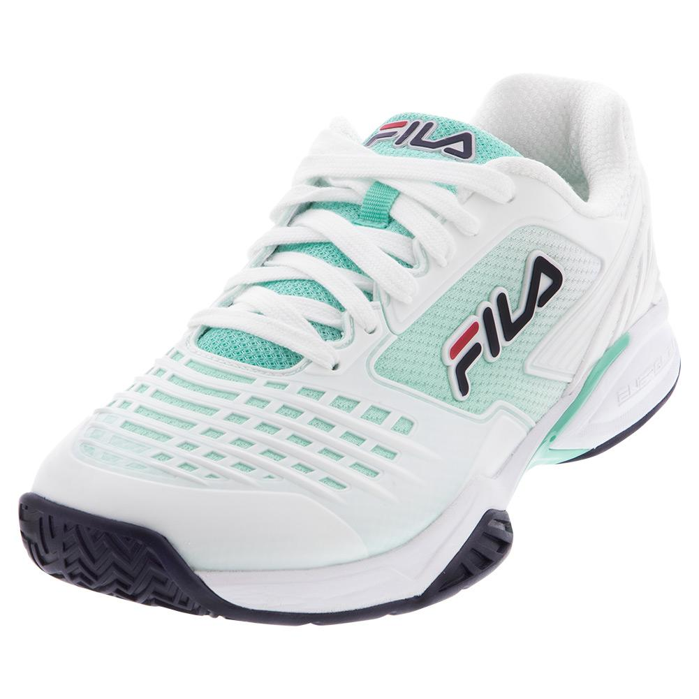 Men's Axilus 2 Energized Tennis Shoes White And Navy