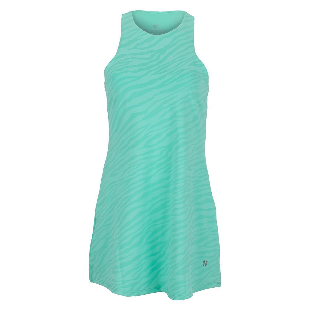 Women's Queen Skater Tennis Dress Mint Zebra Print