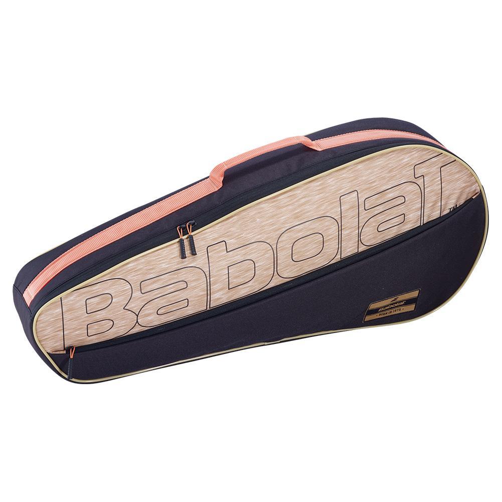 Club Essential Racquet Holder X 3 Tennis Bag Black And Beige