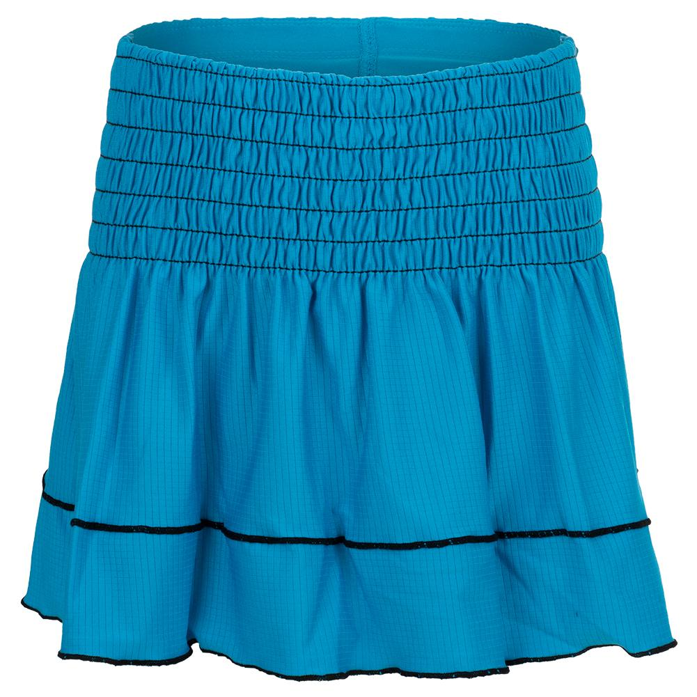 Girls'smocked Tennis Skort Turquoise