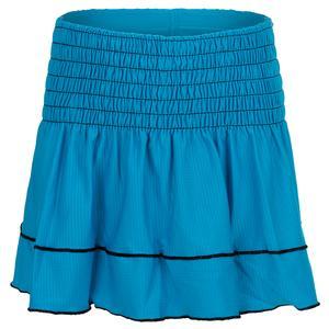 Girls` Smocked Tennis Skort Turquoise