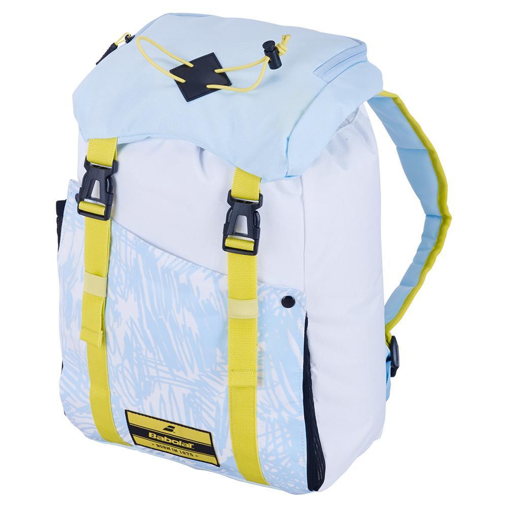 Girls ` Junior Classic Tennis Backpack White Blue