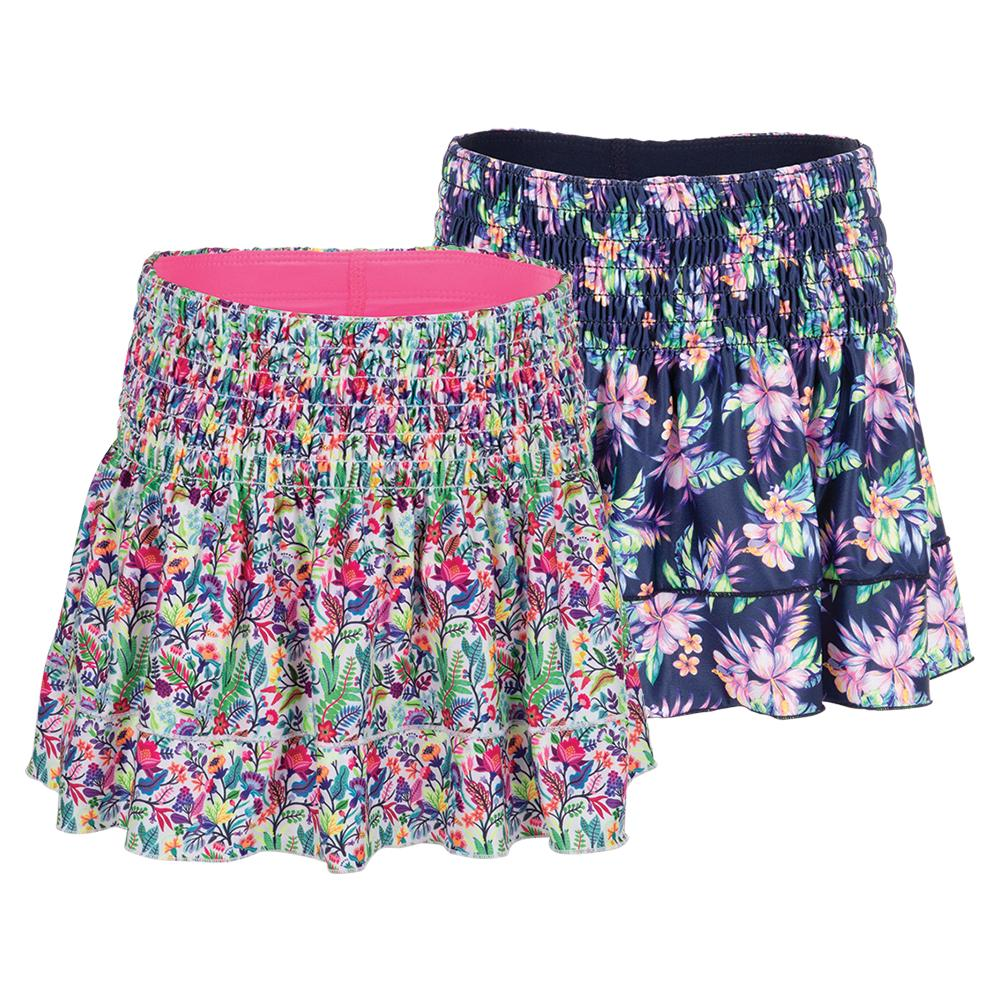 Girls'smocked Tennis Skort