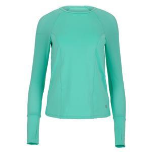 Women`s High Serve Long Sleeve Tennis Top Mint