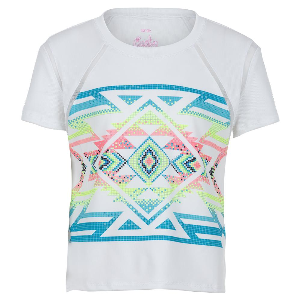 Girls'short Sleeve Tennis Top Square Are You