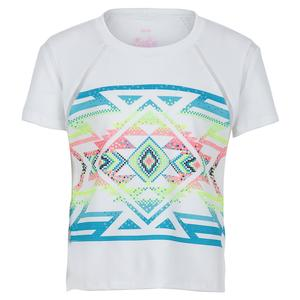 Girls` Short Sleeve Tennis Top Square Are You